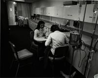 Two Mankato State University students at the School of Nursing, 1980.