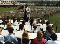 Band at Mankato State University Commencement, June 6, 1986