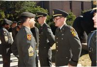 ROTC officers at ROTC ceremony; Mankato State University