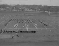 Band at halftime - Dad's Day Game Mankato State College November 7, 1960.