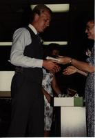 School of Nursing Pinning Ceremony at the Holiday Inn, Mankato, 1990-92. Pictured L-R: Scott Fiegel, Dr. Kathryn Schweer.