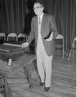 Acting as the president at Mankato State College March 31, 1958