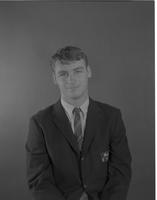 Capell, Michael-student football portrait Mankato State College June 1, 1965.
