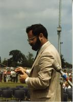 Dr. Stewart Ross at Mankato State University Commencement, June 6, 1986