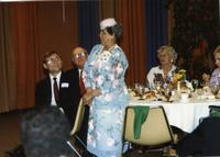 Celestia Fraction at Mankato State University Distinguished Alumni Awards Reception, June 6, 1986