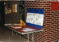 Mankato State University Homecoming in 1984.  Pictured is the 25th Anniversary Wilson Campus School Parent's Association Display.