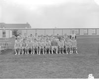 All boys football training camp at Mankato State College, 1964-01-28.
