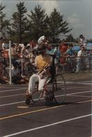 Wheelchair Competition, Cerebral Palsy Games, Mankato State University, July 15th, 1989.