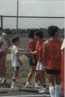 Track Competition, Cerebral Palsy Games, Mankato State University, July 15th, 1989.