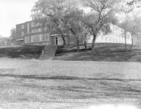 A building at Mankato campus, Mankato State College, 1958-01-24