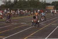 National Cerebral Palsy Games, Competitors of the Wheelchair Competition,  Mankato State University, July 15th, 1989.