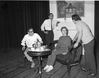 Group of students discussing in a small room, Mankato State College, 1960-10-31