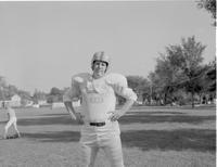 A Mankato-State football player, Mankato State College, 1958-09-30