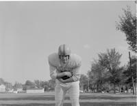 A Mankato-State football player, Mankato State College, 1958-09-30