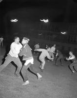 Students outside activities, Mankato State College, 1960-10-31