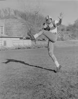 Action shots of D. Seliga at football practice, Mankato State College, 1958-11-11.