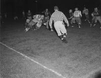 Mankato state football team versus Iowa State, Mankato State College, 1958-11-18.