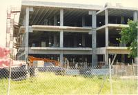 Construction of Memorial Library Mankato State University, June 1991.