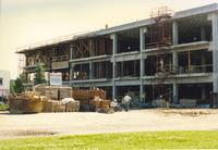 Memorial Library Construction June 1991 Mankato State University.