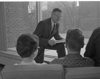 President Clarence Crawford in the CSU Mankato State 1960-1965.