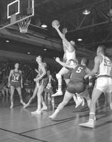 Mankato State College home game against St. John at Otto Arena, 1958-12-08.