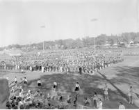 Band Performing Mankato State College October 14, 1958.