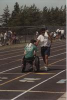 Wheelchair Competition for National Cerebral Palsy Games, Mankato State University, July 15th, 1989.