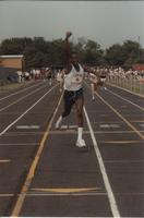 National Cerebral Palsy Games, First Place winner in one of the Track Competitions,  Mankato State University, July 15th, 1989.
