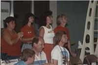 Supporters in the Swimming Competition. Cerebral Palsy Games, Mankato State University, July 15th, 1989.