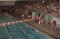 Swimming Competition. Cerebral Palsy Games, Mankato State University, July 15th, 1989.