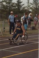 National Cerebral Palsy Games, Competitor of the Wheelchair Competition,  Mankato State University, July 15th, 1989.