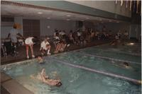 Swimming Competition. Competitors in the Cerebral Palsy Games, Mankato State University, July 15th, 1989.