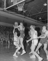 Mankato State College Basketball game against St. Cloud University, 1959-02-06.