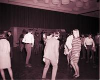 Students dancing in the centennial student union ballroom at Mankato State College 1968