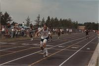 Track Competition for National Cerebral Palsy Games, Mankato State University, July 15th, 1989.