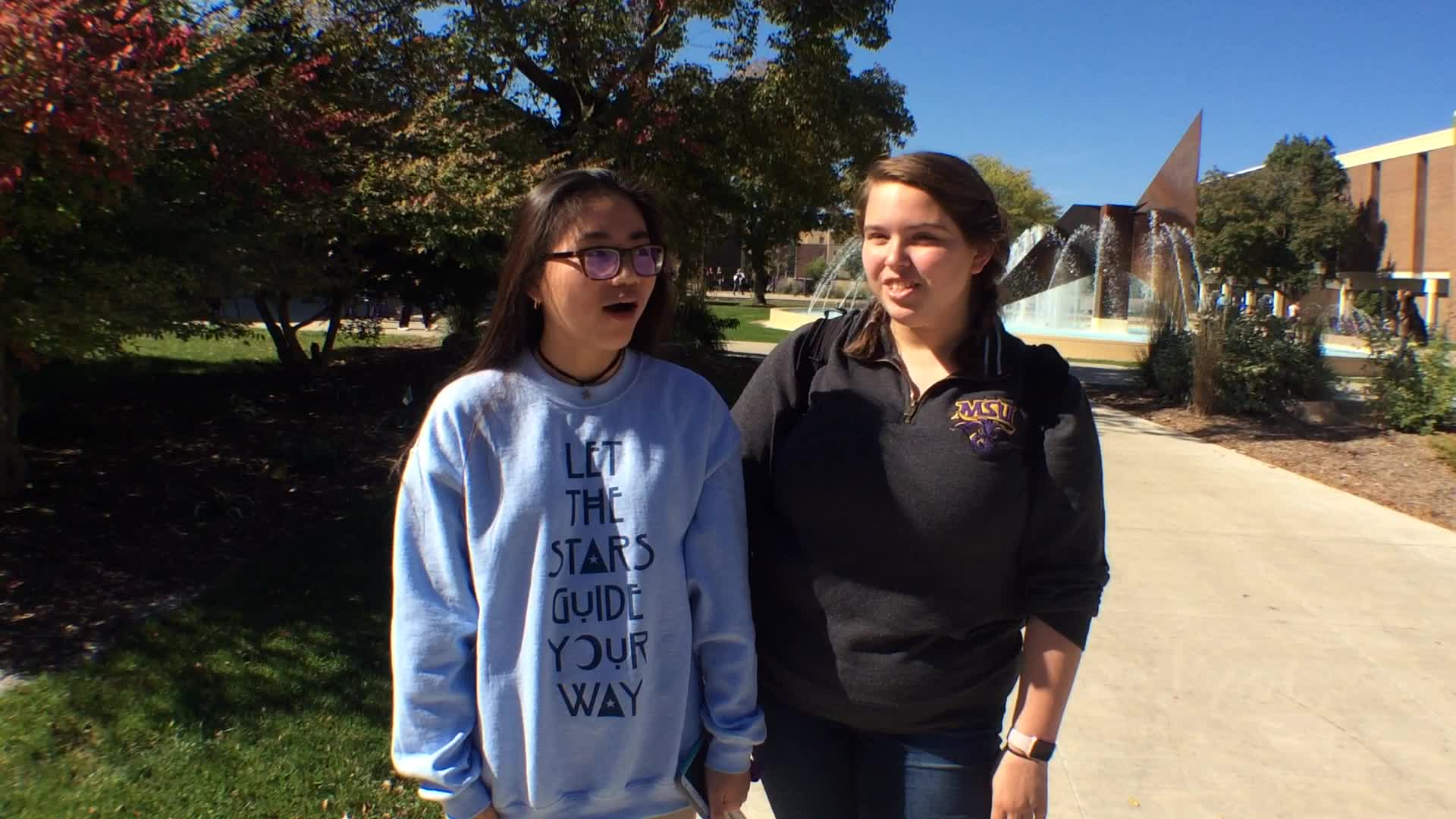 Linh Hoang and Eryn Zuiker, Mankato, MN - Homecoming 2016 at Minnesota State University, Mankato