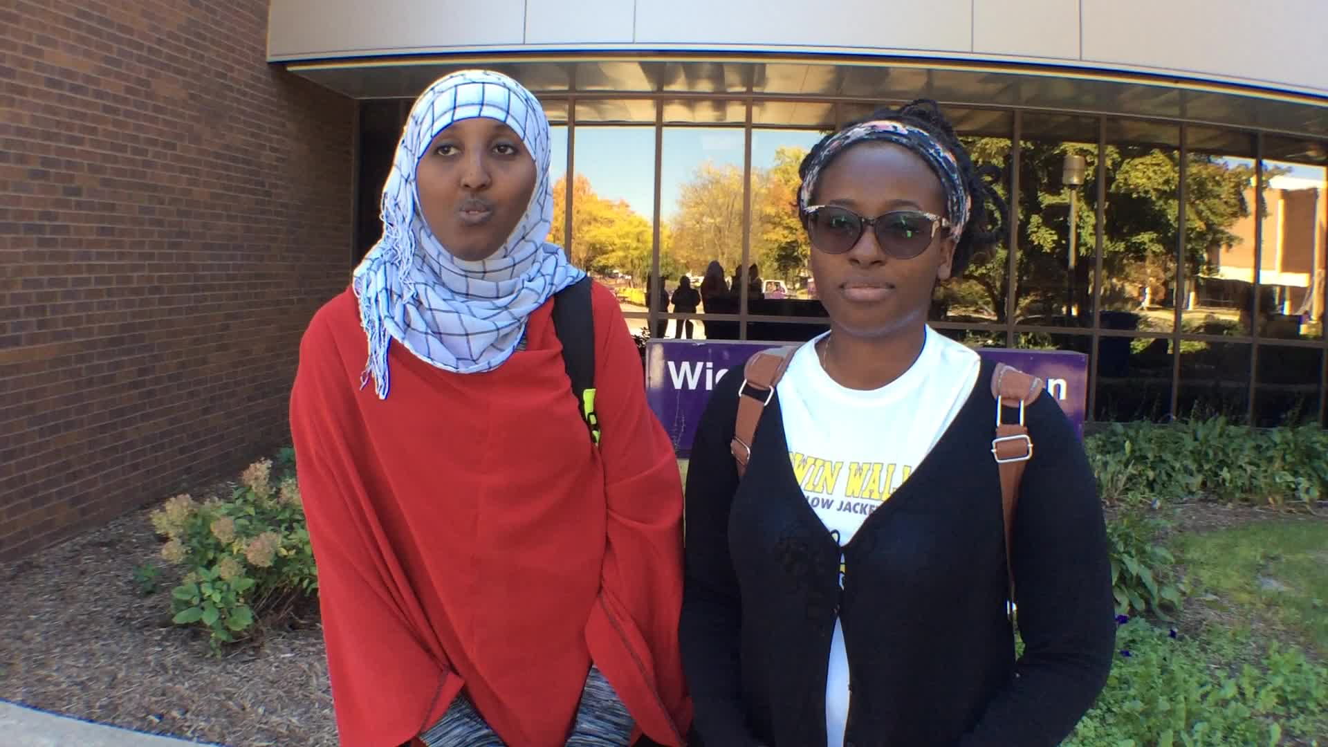 Rachel Uwimbabazi and Hani Farah, Mankato, MN - Homecoming 2016 at Minnesota State University, Mankato