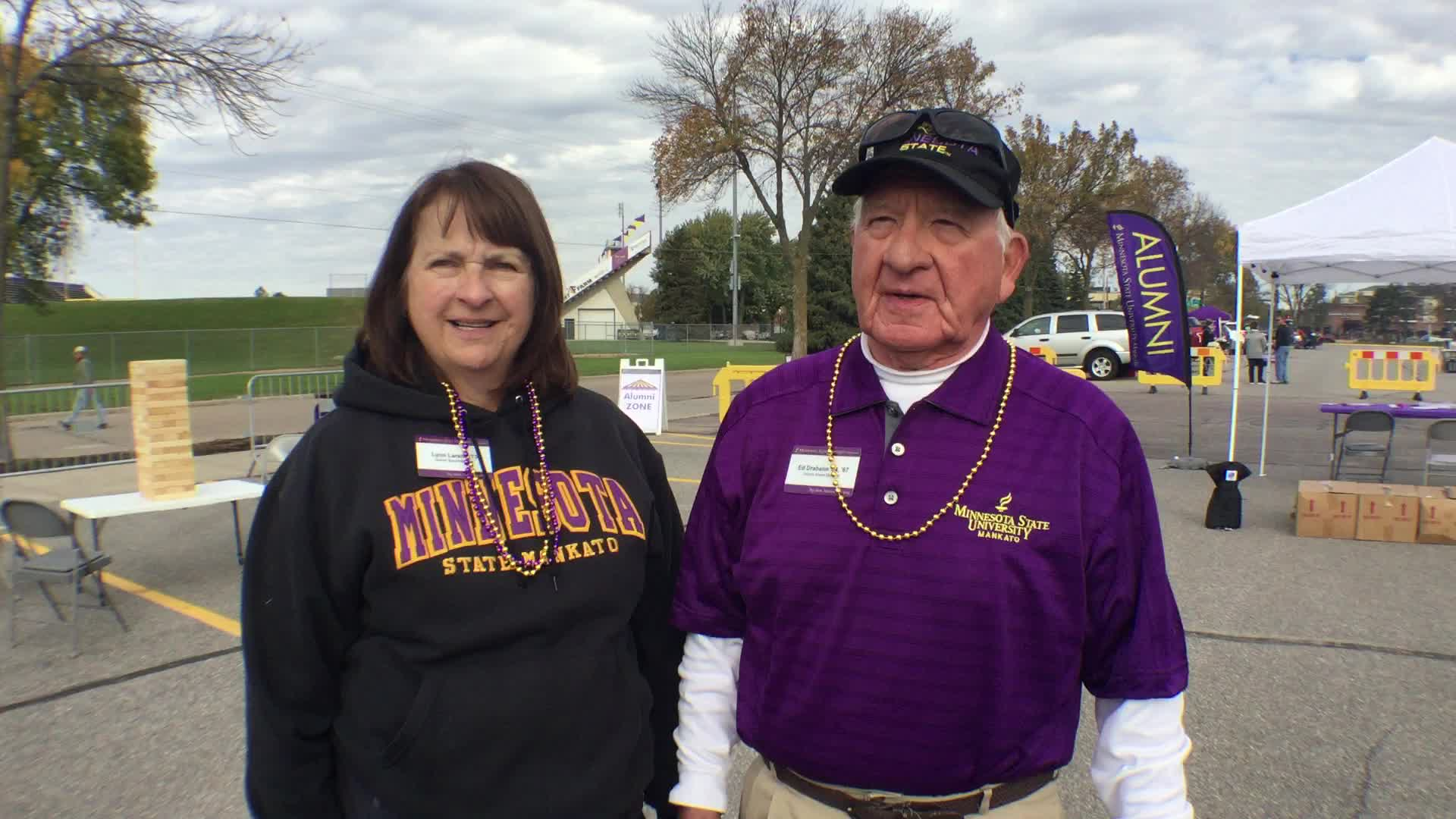 Lynn K. Larson, Ramsey, MN, and Edmund D. Draheim, Owatonna, MN - Homecoming 2016 at Minnesota State University, Mankato
