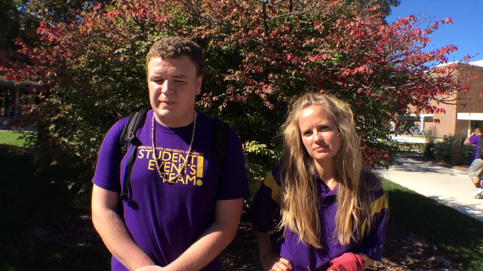 Andrew Stromme and Ashley Strom, Mankato, MN - Homecoming 2016 at Minnesota State University, Mankato