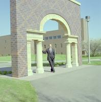 Former President of Minnesota State University, Mankato Richard R. Rush, 1990s.