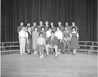 Professors posing for a picture at Mankato State College on January 20,1960