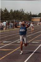 Track Competition Competitor at the National Cerebral Palsy Games, Mankato State University, July 15th, 1989.