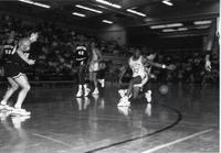 #23 for the Mavericks having the ball knocked away from an Augustana defender during a game at Mankato State University