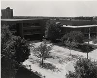 View of Wigley Administration Building, Mankato State University, Early 1980s.