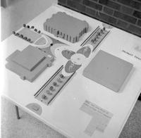 Diorama of Mankato State College Building Project 1960s
