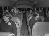 Bus Ride for students Mankato State College 1970s