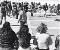 Campus Mall, Mankato State College, 1970s.