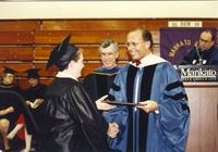 Commencement ceremony at Mankato State University, June 7, 1991.