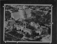 Aerial photo of unknown city, Mankato State College, 1960-05-23