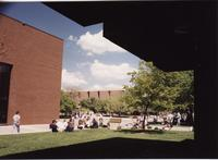 Campus Mall, Mankato State University, May 1995.